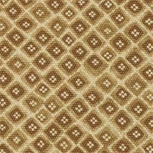 Mynah Sand Tan Floral Diamond Cotton Drapery Fabric by Robert Allen
