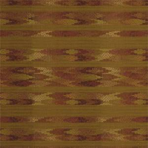 Chopra Flagstaff Red Gold Stripe Upholstery Fabric by Robert Allen