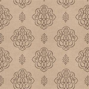 03512-VY Pewter Floral Drapery Fabric by Trend Fabrics