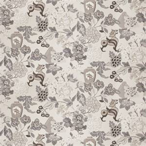 03517-VY Grey Floral Drapery Fabric by Trend Fabrics