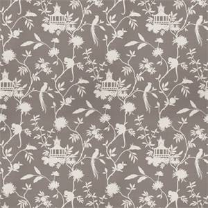 03508-VY Grey Toile Drapery Fabric by Trend Fabrics