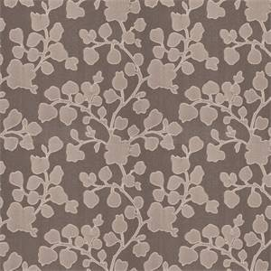 03500-VY Grey Floral Drapery Fabric by Trend Fabrics