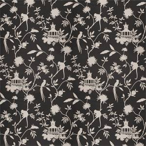 03508-VY Black Toile Drapery Fabric by Trend Fabrics