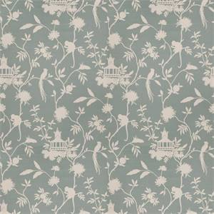 03508-VY Haze Blue Toile Drapery Fabric by Trend Fabrics