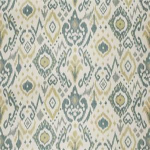03510-VY Aqua Ikat Drapery Fabric by Trend Fabrics