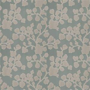 03500-VY Aqua Floral Drapery Fabric by Trend Fabrics