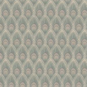 03518-VY Ocean Feather Print Upholstery Fabric by Trend Fabrics