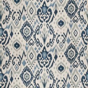 03510-VY Blue Ikat Drapery Fabric by Trend Fabrics