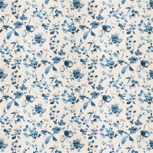03511-VY Blue Sand Floral Drapery Fabric by Trend Fabrics