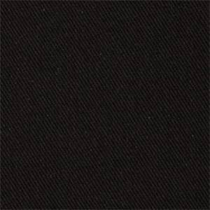 Eco Chic Onyx Solid Black Cotton Denim Slipcover Fabric