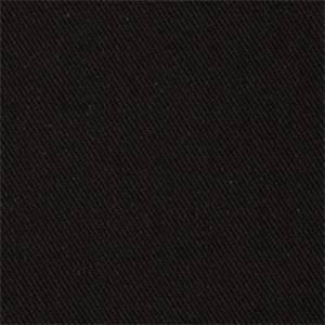 Eco Chic Onyx Solid Black Cotton Denim Slipcover Fabric