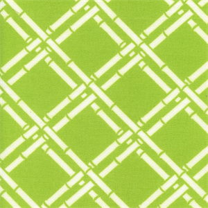 1 YD Piece Bamboo Lime Green Contemporary Indoor/Outdoor Fabric ...