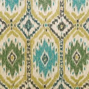 Poncho Olive Green Diamond Ikat Drapery Fabric
