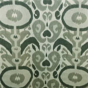 Noah Grey Large Circle Ikat Design Cotton Drapery Fabric
