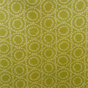 Sophie Citrine Green Geometric Design Cotton Drapery Fabric