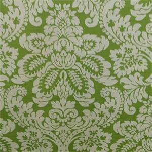 Abigail Green Floral Cotton Drapery Fabric
