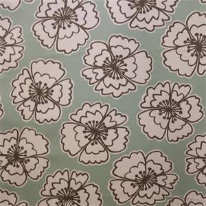 Lillydrop Robins Egg Green Floral Cotton Drapery Fabric