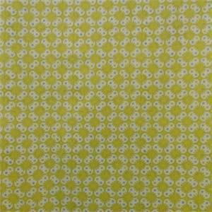 Brie Bright Yellow Green Floral Cotton Drapery Fabric