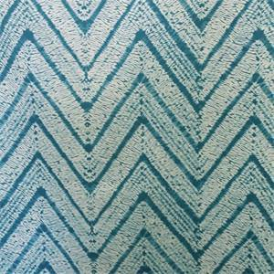 Matthew Sea Blue Chevron Stripe Cotton Drapery Fabric