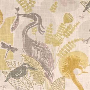 Mangrove Sunrise Bird Floral Drapery Fabric By Richloom