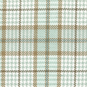 Brennan Spa Blue Plaid Check Cotton Upholstery Fabric By Roth And