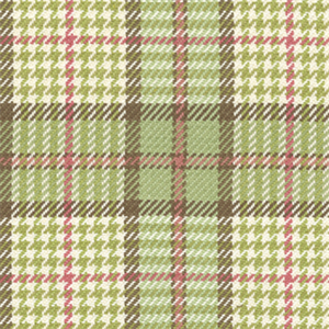Brennan Spring Green Plaid Check Cotton Upholstery Fabric By Roth