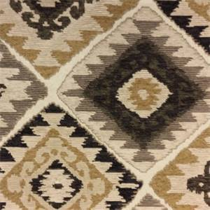 Charles Carson Brown Southwestern Upholstery Fabric