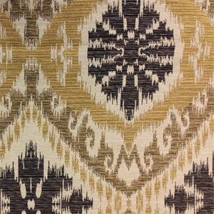 Earl of Grantham Gold Ikat Upholstery Fabric