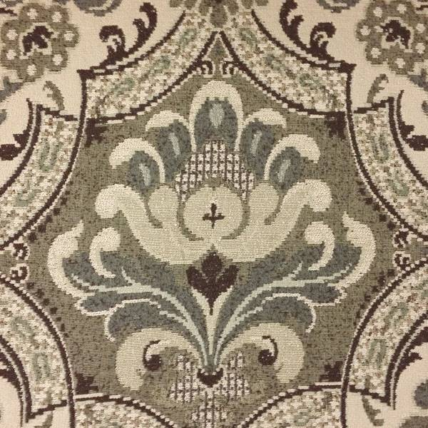 Kieran Branson Pewter Large Floral Upholstery Fabric 56248