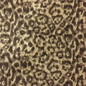 Elsie Hughes Charcoal and Gold Animal Print Upholstery Fabric