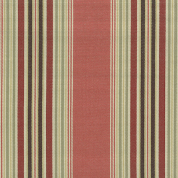 D2790 Sanibel Nantucket Red Cotton Stripe Drapery Fabric by Roth ...