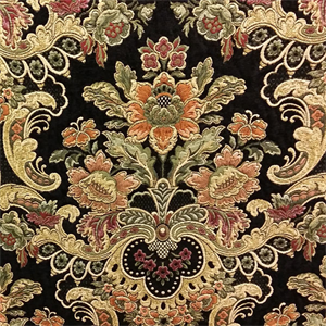 Uffizi Palace Jet Black Tapestry Upholstery Fabric By Swavelle Mill