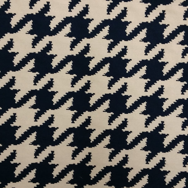 Houndstooth Indigo Navy Upholstery Fabric By Barrow Merrimac Fabrics