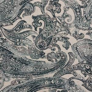 M9918 Teal Floral Paisley Woven Upholstery Fabric by Barrow Merrimac Fabrics