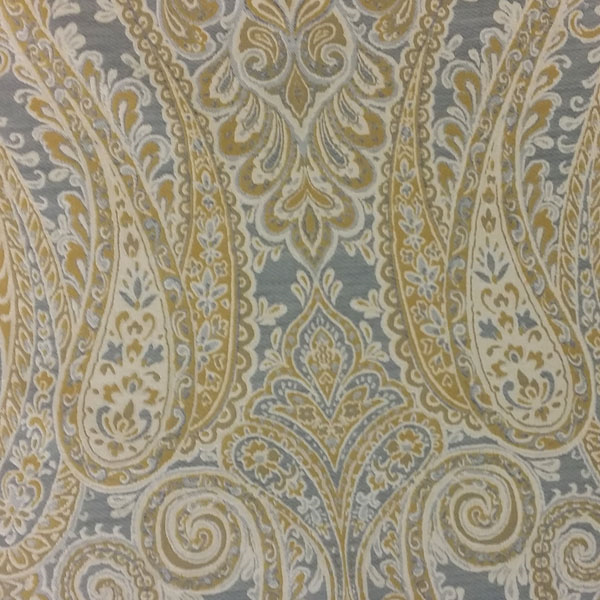 aspect frost gray paisley upholstery fabric - sw57422