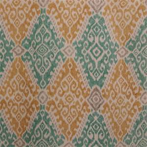 Fergana Sunglow Gold Cotton Ikat Drapery Fabric by P Kaufmann