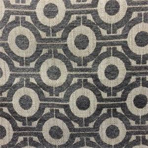 M9910 Brindle Gray Chenille Geometric Upholstery Fabric By Barrow