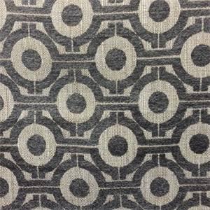 M9910 Brindle Gray Woven Chenille Like Geometric Design Upholstery Fabric  by Barrow Merrimac Fabrics - 57469