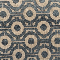 M9910 Fountain Blue Chenille Geometric Design Upholstery Fabric by Barrow  Merrimac Fabrics