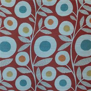 Wink Rouge Red Floral Upholstery Fabric By Richloom