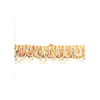 Alabama Gold Beaded Ribbon Fringe