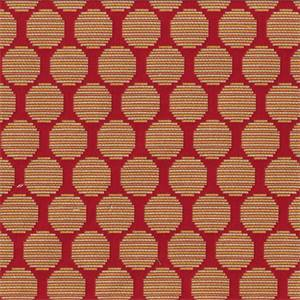 Roundabout Mango Orange Woven Dot Upholstery Fabric
