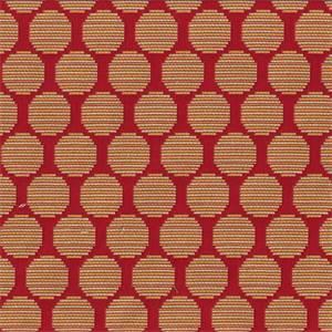 Roundabout Mango Orange Woven Dot Upholstery Fabric