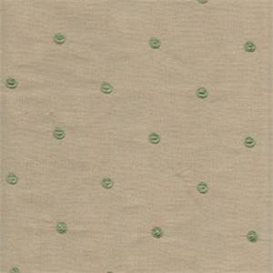 Star Seafoam Polka dot Faux Silk