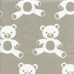 Teddy Tan White Cotton Twill Drapery Fabric by Premier Prints