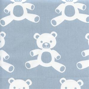 Teddy Weathered Blue White Cotton Twill Drapery Fabric by Premier Prints