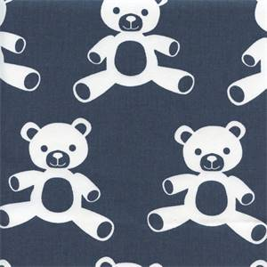 Teddy Premier Navy Cotton Twill Drapery Fabric by Premier Prints
