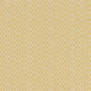 Hand Motif Zest Yellow Geometric Design Cotton Drapery Fabric by Robert Allen