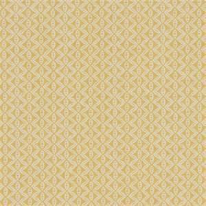 Hand Motif Zest Yellow Geometric Design Cotton Drapery Fabric by Robert Allen