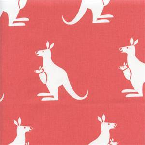 Kangarool Coral Orange Twill Drapery Fabric  By Premier Prints